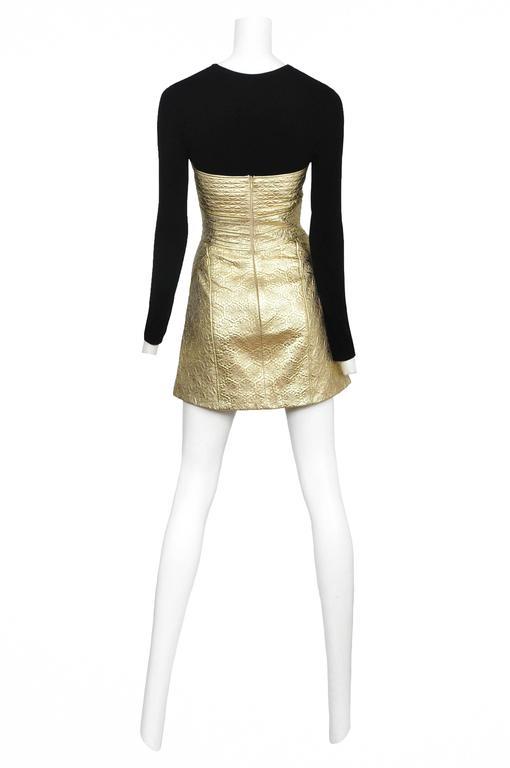 McQueen Gold Dress  4