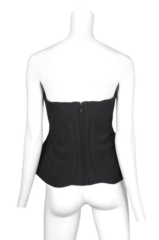 Alexander McQueen Black Padded Bustier 2008 In Excellent Condition For Sale In Los Angeles, CA