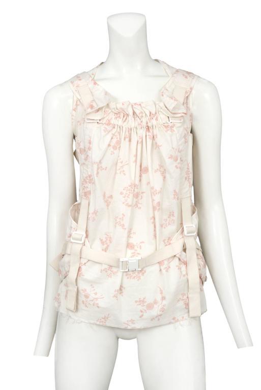 Junya Watanabe Pink & White Floral Parachute Top 2003 2