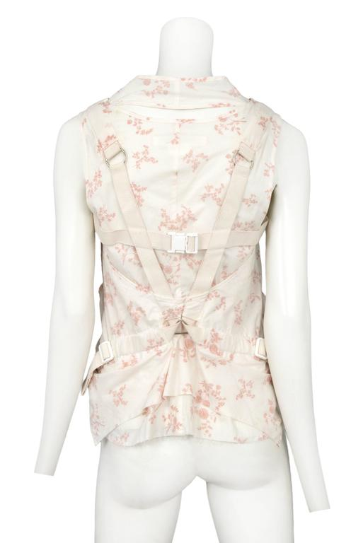Junya Watanabe Pink & White Floral Parachute Top 2003 3