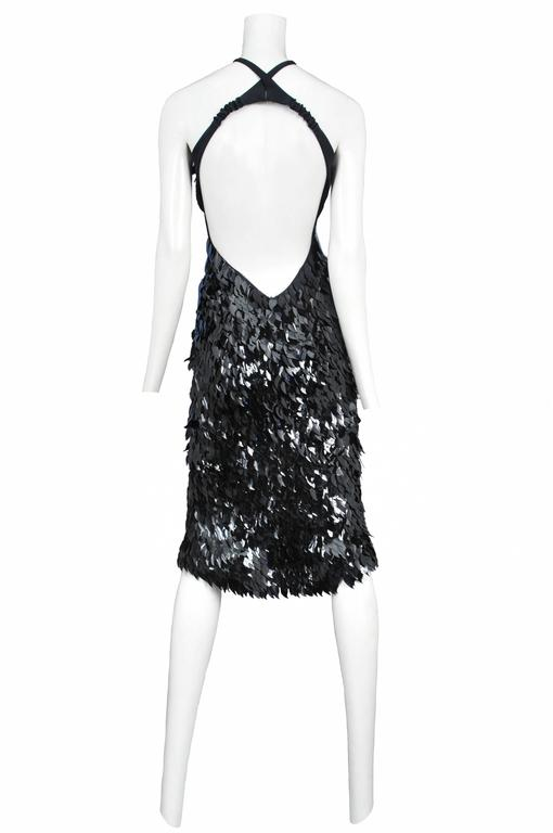 Tom Ford for Gucci Black Paillette Dress In Excellent Condition For Sale In Los Angeles, CA