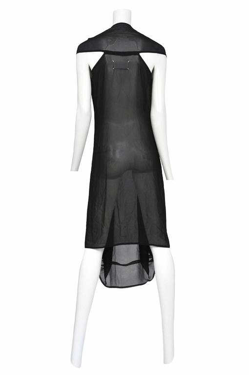 Black Martin Margiela Chiffon Car Seat Collection Dress 2006 For Sale