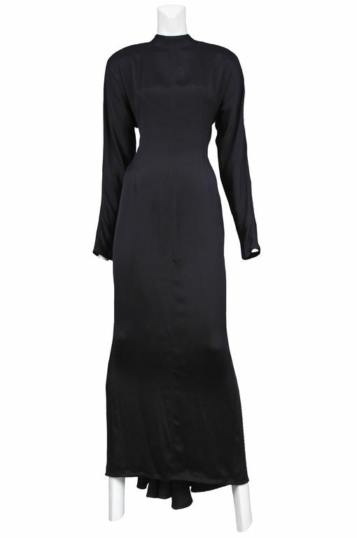 Versace Black Deco Cutout Gown In Excellent Condition For Sale In Los Angeles, CA