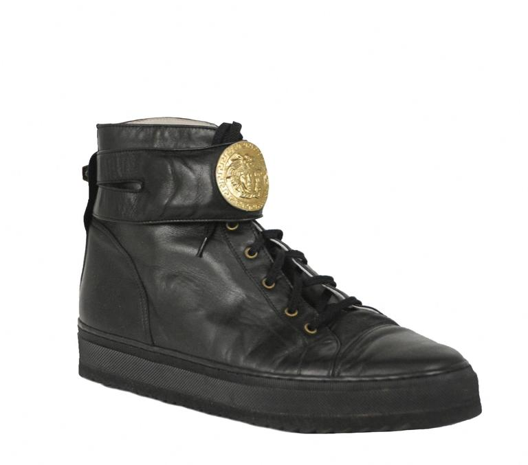 Versace Black Medallion Sneakers 2