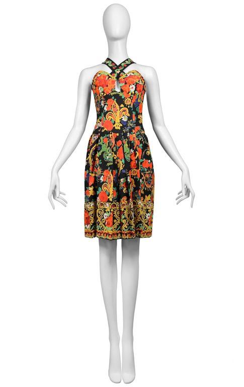 Christian Lacroix Floral Criss Cross Dress 2