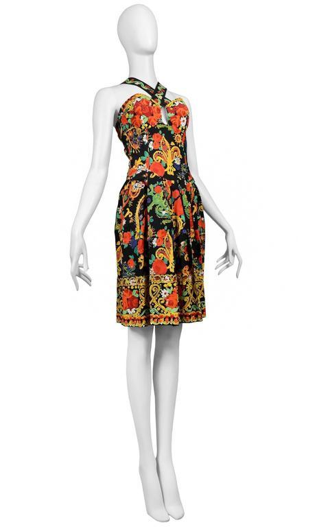 Christian Lacroix Floral Criss Cross Dress 3