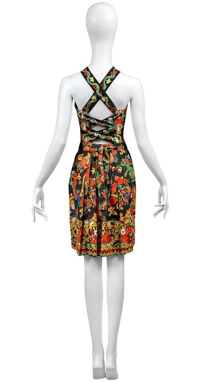 Christian Lacroix Floral Criss Cross Dress 4