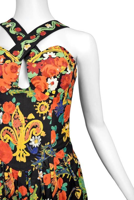 Christian Lacroix Floral Criss Cross Dress 5