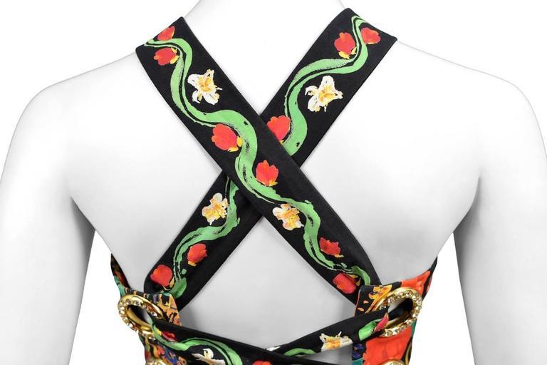 Christian Lacroix Floral Criss Cross Dress 7
