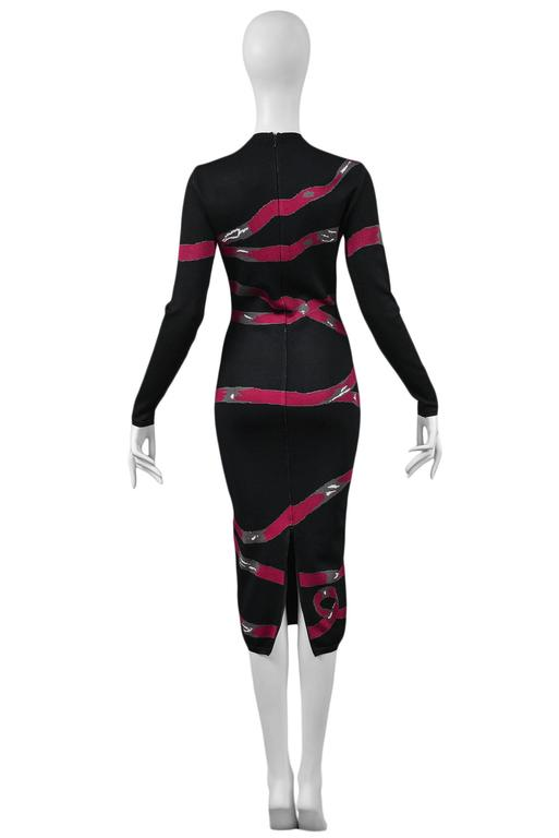 Alaia Pink Ribbon Dress 1992 3