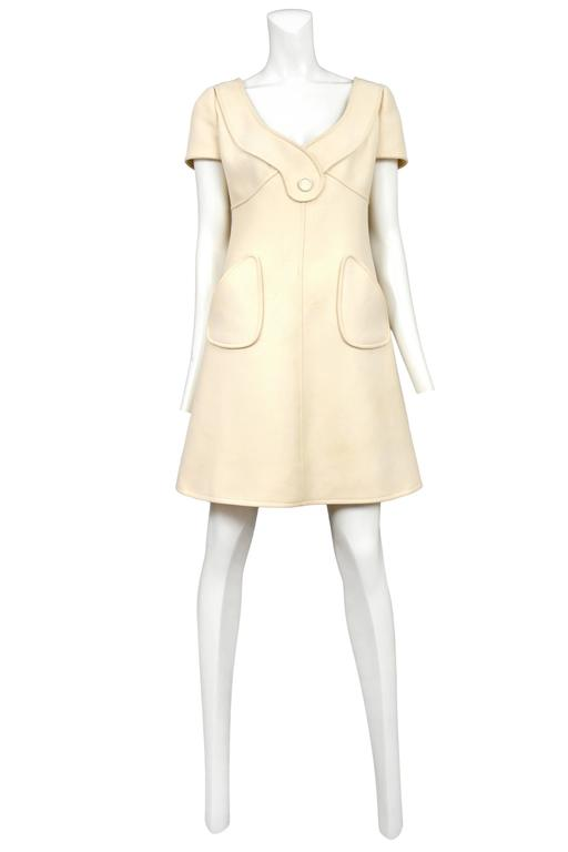 Courreges Cream Day Dress 2