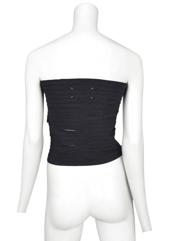 Maison Martin Margiela Black Laces Top 2003 In Excellent Condition For Sale In Los Angeles, CA