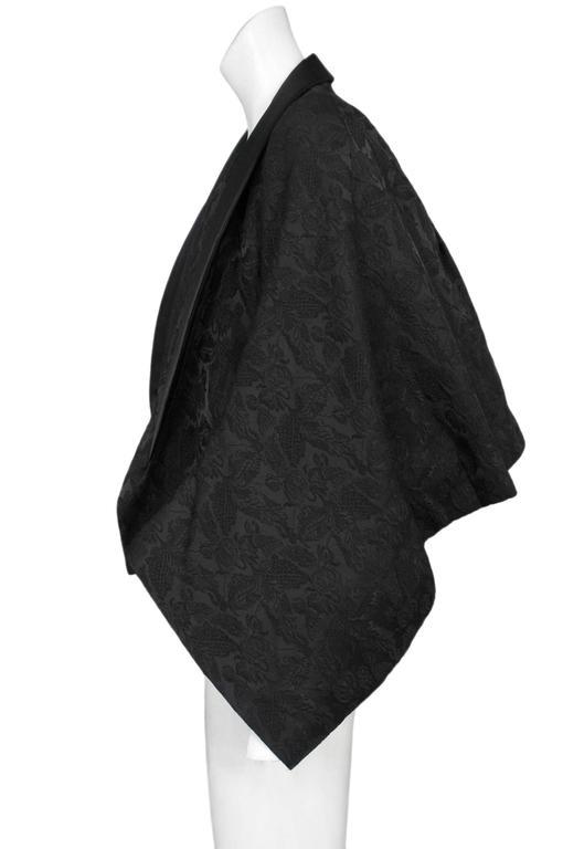 Comme des Garcons Black Brocade Kimono Jacket 2004 In Excellent Condition For Sale In Los Angeles, CA
