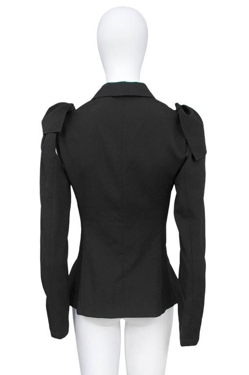 Yohji Black Detachable Sleeve Blazer 3