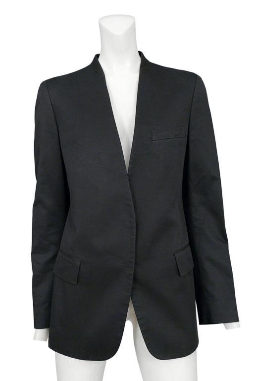 Martin Margiela Black Hidden Button Blazer 2