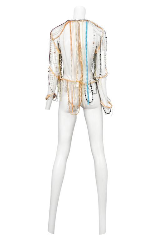 Beige Martin Margiela Artisanal Bead Jacket 2006 For Sale