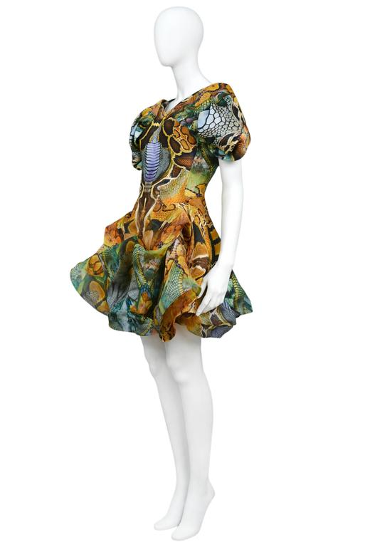 Brown Alexander McQueen Platos Atlantis Dress 2010 For Sale