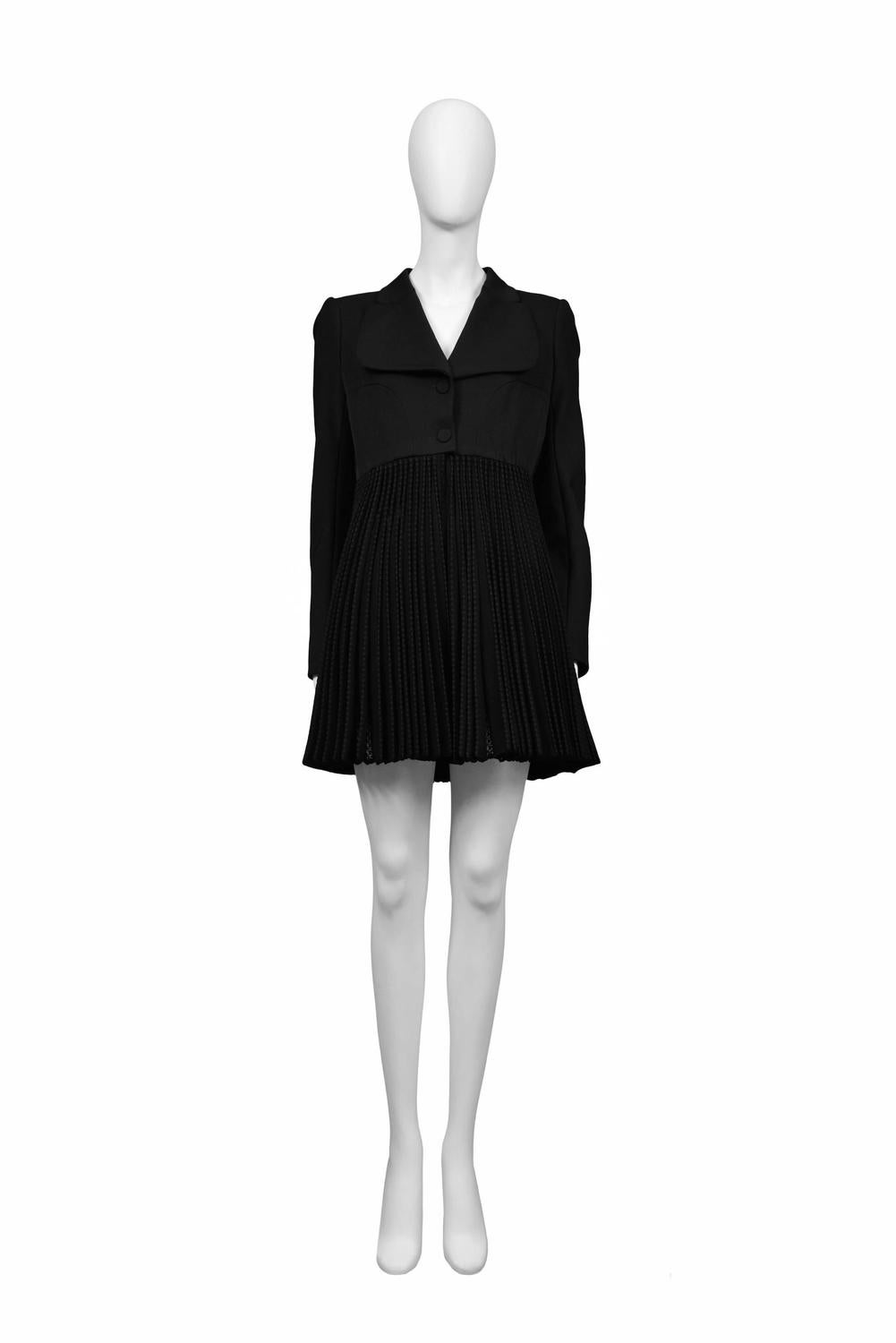 alaia black pleated skirt coat for sale at 1stdibs