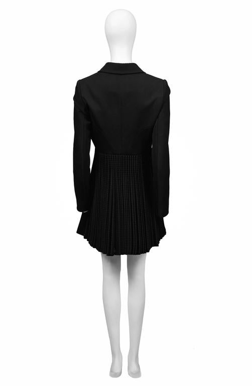 Alaia Black Pleated Skirt Coat 4