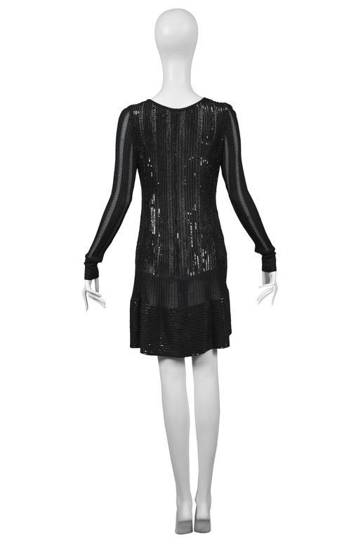 Rare Alaia Black Beaded Cocktail Dress 1996 6