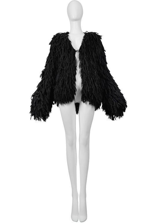 Margiela Black Alpaca Shag Jacket 1993-94 3