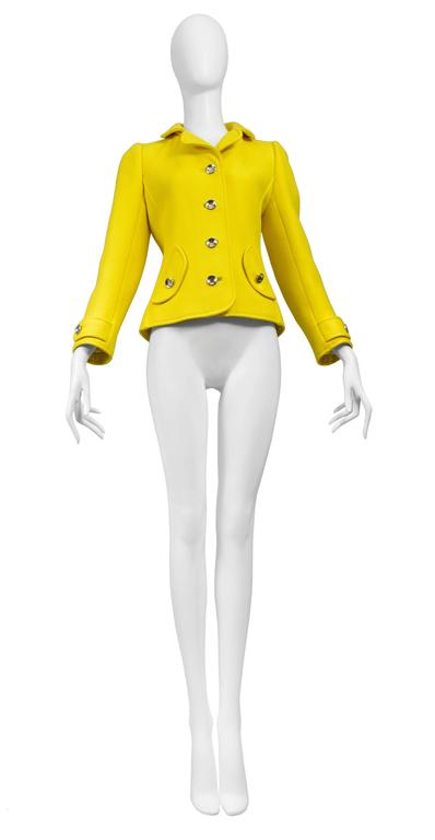 Courreges Yellow Metal Button Jacket 2