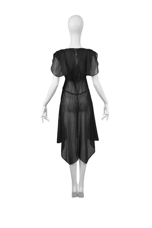Alaia Black Eyelet Cotton Lace Summer Dress 2007 3