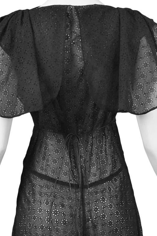 Alaia Black Eyelet Cotton Lace Summer Dress 2007 4