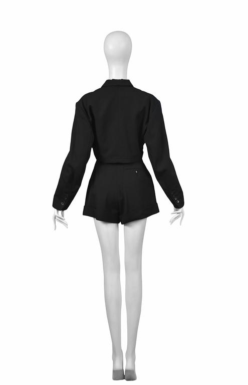 Alaia Black Shorts Ensemble 1980's In Excellent Condition For Sale In Los Angeles, CA