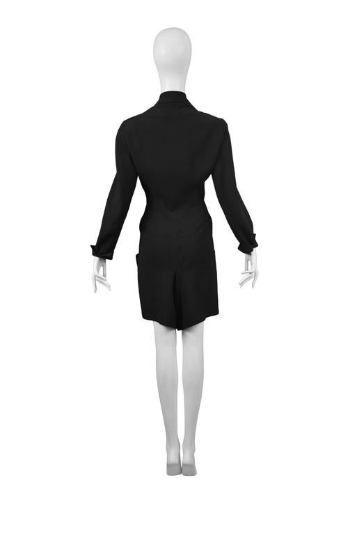 Gray Alaia Dinner Suit Shorts Romper For Sale