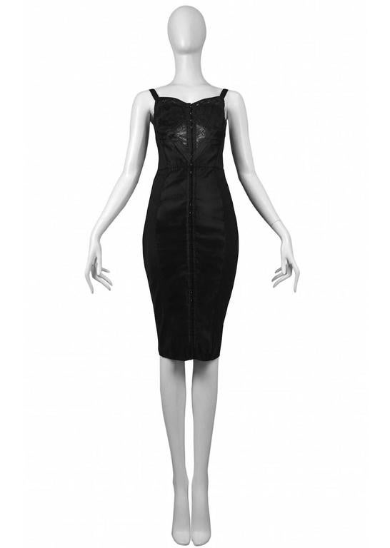 Dolce & Gabbana Black Bustier Dress with Lace 2