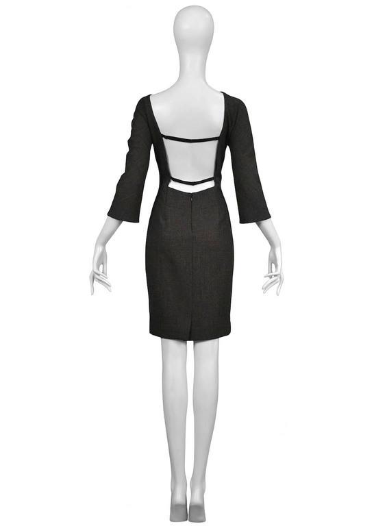Black Dolce & Gabbana Grey Backless Dress 1998 For Sale