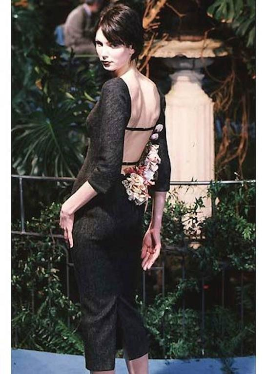 Women's Dolce & Gabbana Grey Backless Dress 1998 For Sale