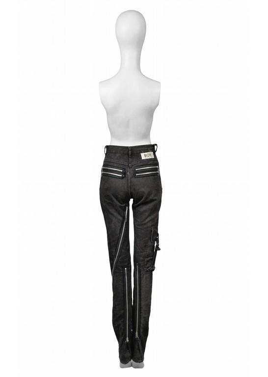 Boy of London Black Bondage Jeans For Sale at 1stdibs