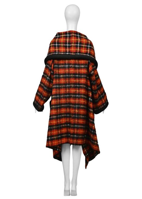 Jean Paul Gaultier Tartan Cape Coat In Excellent Condition For Sale In Los Angeles, CA