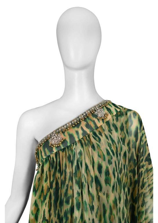 Black John Galliano for Dior Leopard Caftan  For Sale