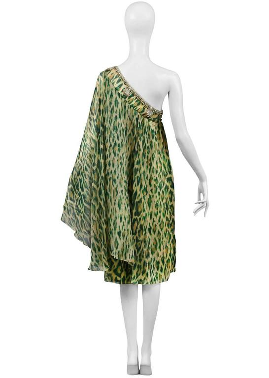John Galliano for Dior Leopard Caftan  In Excellent Condition For Sale In Los Angeles, CA