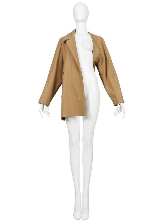 Maison Martin Margiela Tan Basting Coat 1997 2