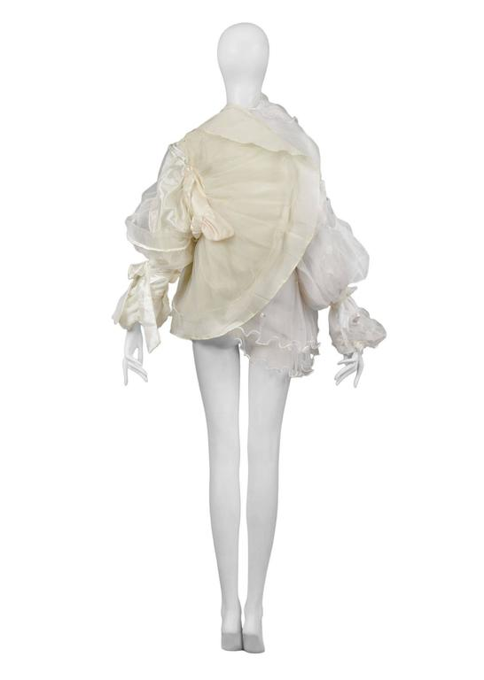 Women's Maison Martin Margiela Artisanal White Tulle Ruffle Jacket For Sale
