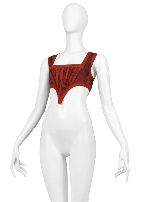 Jean Paul Gaultier Red Corset Top 3
