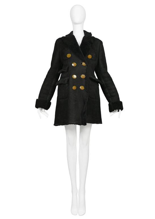 Vivienne Westwood Black Shearling Coat 2