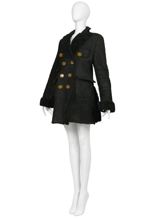 Vivienne Westwood Black Shearling Coat 3