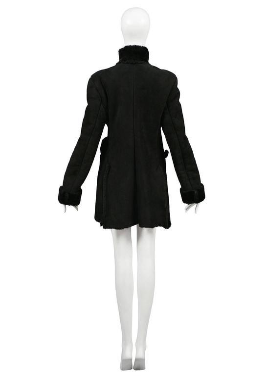 Vivienne Westwood Black Shearling Coat 4