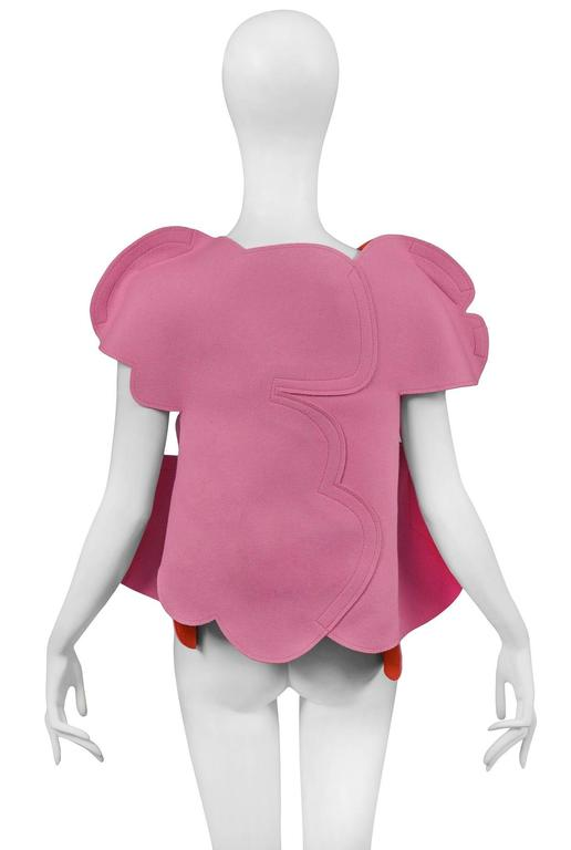 Comme des GArcons Pink 2D Flat Top AW 2012 In Excellent Condition For Sale In Los Angeles, CA