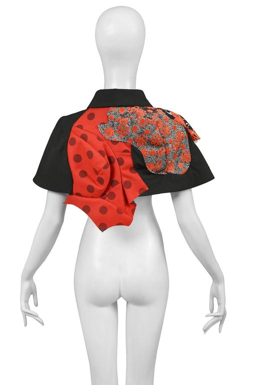 Comme des Garcons Red and Black Cape SS 2009 In Excellent Condition For Sale In Los Angeles, CA