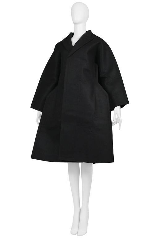 Comme des Garcons Black Felt Flat Jacket 2012 2