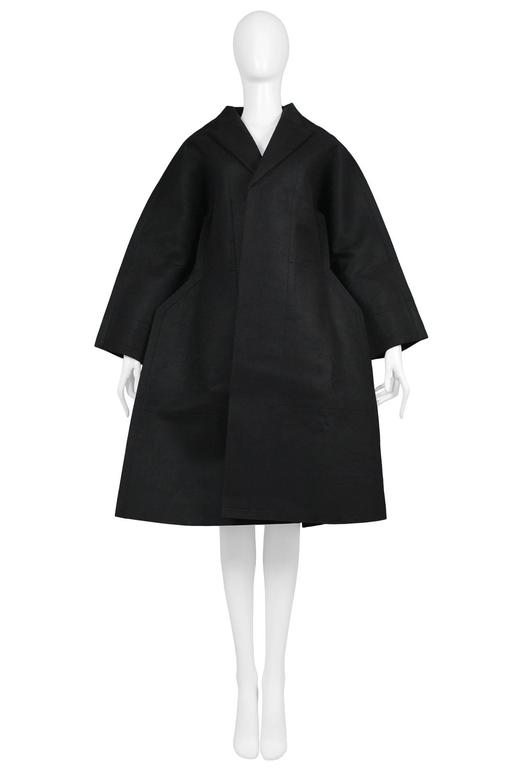 Comme des Garcons Black Felt Flat Jacket 2012 In Excellent Condition For Sale In Los Angeles, CA