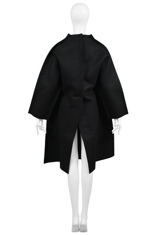 Women's Comme des Garcons Black Felt Flat Jacket 2012 For Sale