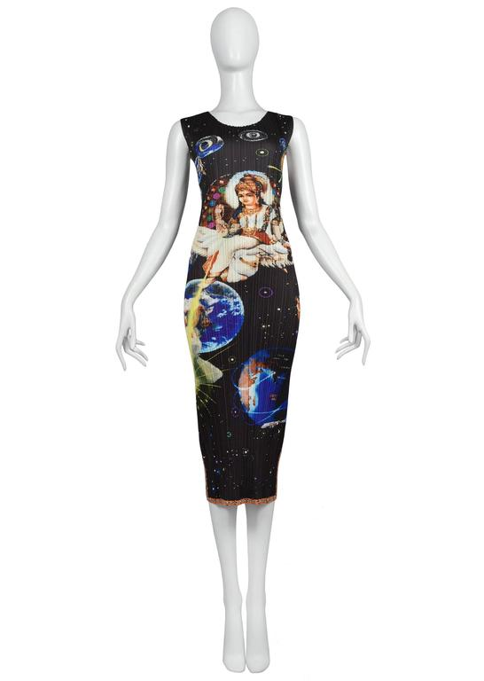 Issey Miyake Black Pleated Space Galaxy Dress 2