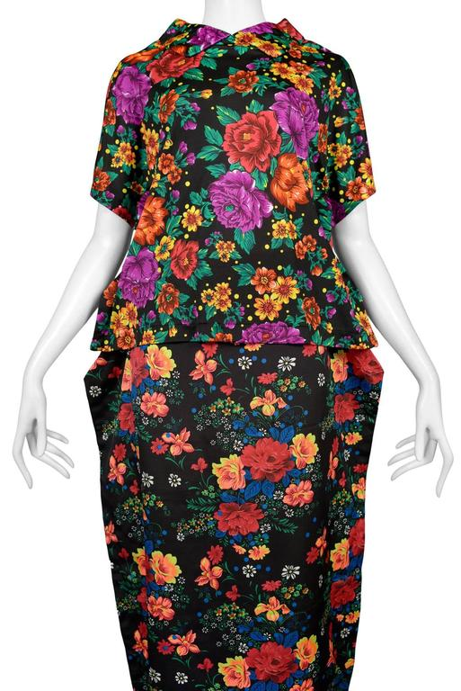 Comme des Garcons Floral Ensemble 2012 In Excellent Condition For Sale In Los Angeles, CA